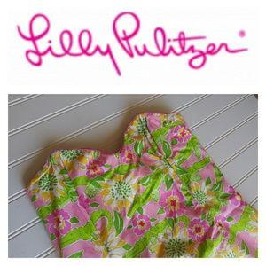 Lilly Pulitzer Strapless Alligator Dress